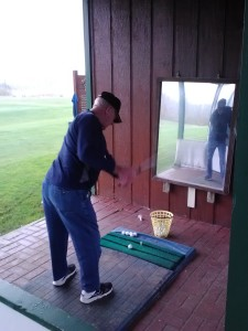 Bob, new above the knee amputee, did not know if he could golf again until receiving instruction from Jim.