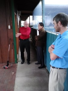 Jim, owner of Golf Country, giving instruction.
